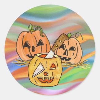 Jack-O-Lantern Sticker ラウンドシール