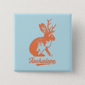 Jackalopeの缶バッチの【の四角の】 5.1cmの正方形バッジ 5.1cm 正方形バッジ