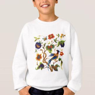 Jacobean刺繍極楽鳥 スウェットシャツ