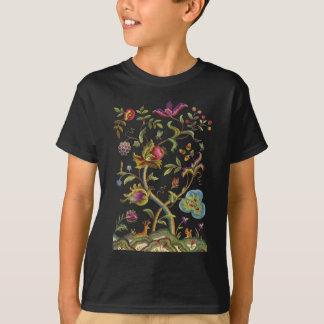 Jacobean刺繍生命の樹 Tシャツ