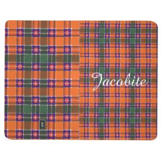 Jacobiteの一族の格子縞のスコットランド人のタータンチェック ポケットジャーナル