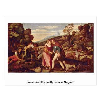 Jacopo Negretti著ヤコブそしてレイチェル ポストカード