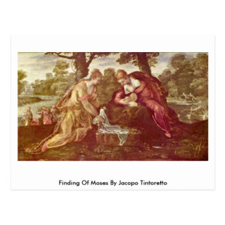Jacopo Tintoretto著モーゼの見つけること ポストカード
