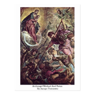 Jacopo Tintoretto著大天使ミハエルおよびSatan ポストカード