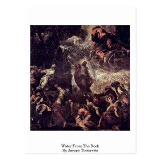Jacopo Tintoretto著石からの水 ポストカード