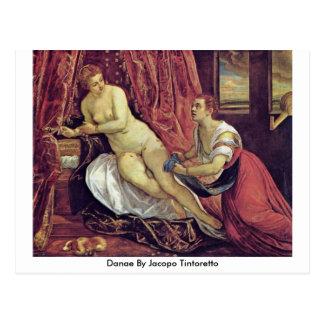 Jacopo Tintoretto著Danae ポストカード
