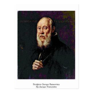 Jacopo Tintoretto著Jacopo Sansovino彫刻家 ポストカード
