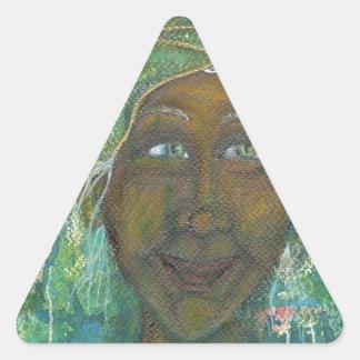 Jadene神のフェミニンな伯母さん 三角形シール