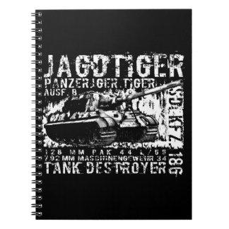 JAGDTIGERの螺線形の写真のノート ノートブック