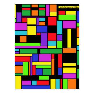 JaguarJulie著カラフルな正方形II ポストカード
