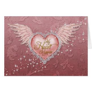 """Jaguarwomanの""""ピンクのバレンタインのハート"""" カード"""