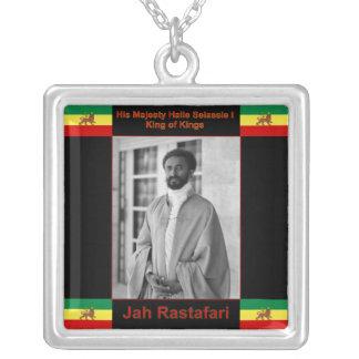 Jah Rastafari Selassie Iのネックレス シルバープレートネックレス
