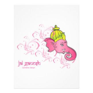 Jai Ganesh象のデザイン チラシ