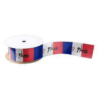 j'aimeのパリのフランスのな旗のリボン サテンリボン