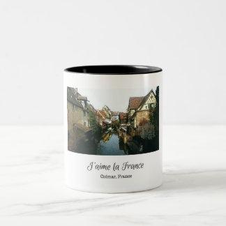 J'aimeのlaのフランスのマグ-コルマール、フランス ツートーンマグカップ