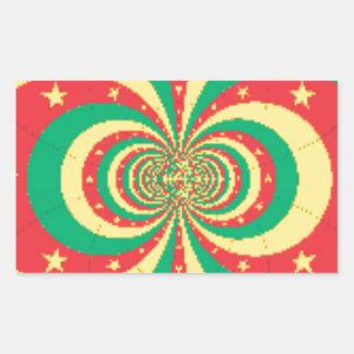 J'aimeカメルーン 長方形シール