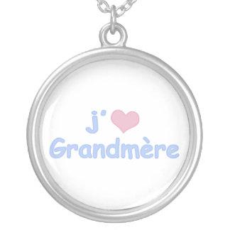 J'aime Grandmère (フランス語) シルバープレートネックレス