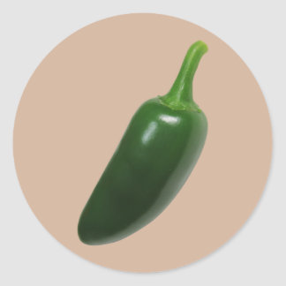 Jalapeñoの大きく熱いコショウ ラウンドシール