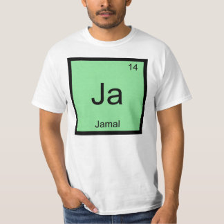 Jamal一流化学要素の周期表 Tシャツ
