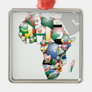 Jambo Habariアフリカのアフリカ美しいこんにちはのママ メタルオーナメント