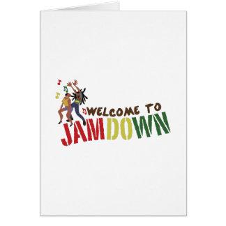 Jamdownへの歓迎 カード