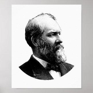 James Garfield大統領のグラフィック ポスター