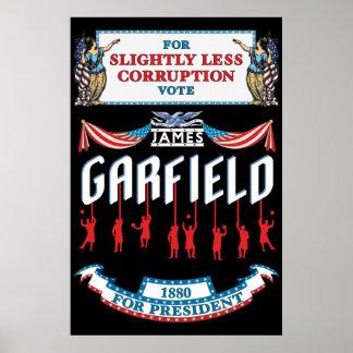 James Garfield 1880のキャンペーンポスター ポスター