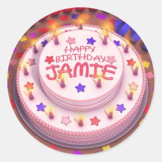 Jamieのお誕生日ケーキ ラウンドシール