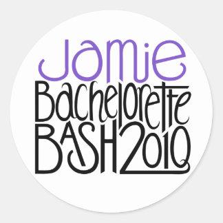 Jamieのバチェロレッテの強打の2010年のステッカー ラウンドシール