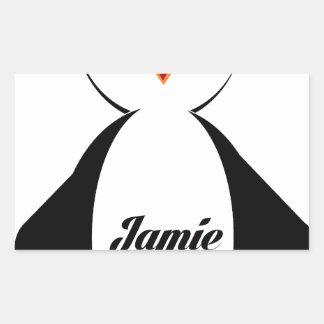 Jamieのペンギン 長方形シール