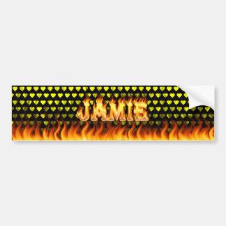 Jamieの実質火および炎のバンパーステッカーは設計します バンパーステッカー