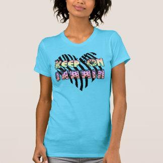 Jamminの女性上で保って下さい Tシャツ