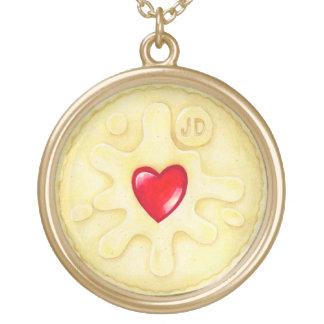 Jammyドジャースのビスケットの絵のネックレス ゴールドプレートネックレス