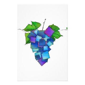 Jamurissa -正方形のブドウ 便箋