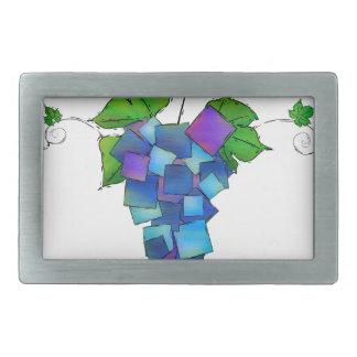 Jamurissa -正方形のブドウ 長方形ベルトバックル