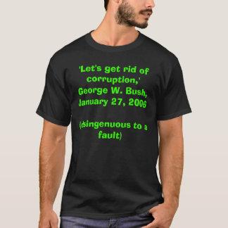 「Jan06は堕落を、「峡谷Wブッシュ取り払おう、 Tシャツ