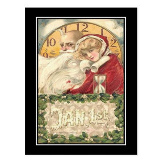 Jan 1st Old Father Time New Year ポストカード