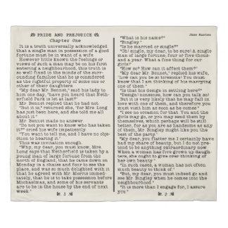 Jane Austen Pride and Prejudice Literature Quote 掛け布団カバー