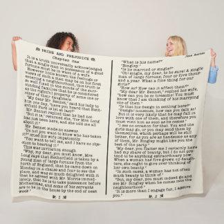 Jane Austen Pride and Prejudice Literature Quote B フリースブランケット