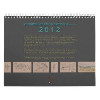 Janejira著建築スケッチのカレンダー2012年 カレンダー
