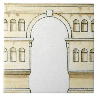 Janusの早く4世紀なアーチのイラストレーション タイル