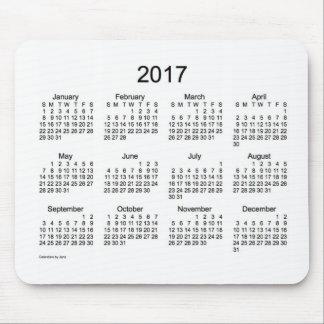 Janzのマウスパッドによる2017の白のカレンダー マウスパッド