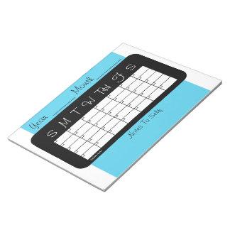Janzのメモ帳による月例プランナーのスカイブルーのカレンダー ノートパッド