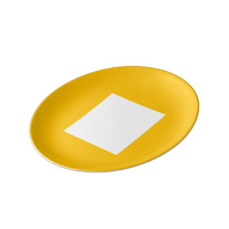 Janzの金ゴールドによるアールデコのパンのプレート 磁器プレート