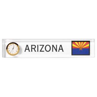 Janz著アリゾナの州の将官のデスクの時計