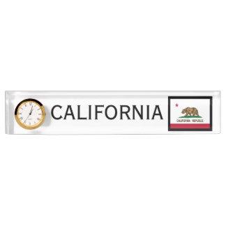 Janz著カリフォルニア州の将官のデスクの時計 デスクネームプレート
