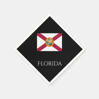 Janz著フロリダの州の旗の紙ナプキン スタンダードカクテルナプキン