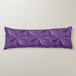 Janz著紫色のダイヤモンドポリエステル抱き枕 ボディピロー
