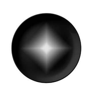 Janz著黒ダイヤの磁器のパンのプレート 磁器プレート