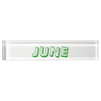 Janz著6月の机用ネームプレート